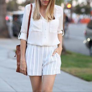 Ann Taylor Shorts - Ann Taylor Striped Shorts